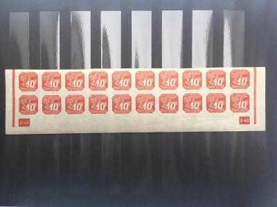 Protektorát-novinové II. NV14 dolní 20-ti pás s dč2-43 nepřeruš.