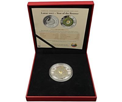 Stříbrná 2 uncová mince 2017 - Rok Kohouta
