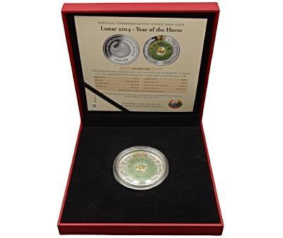 Stříbrná 2 uncová mince 2014 - Rok Koně