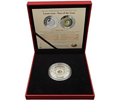 Stříbrná 2 uncová mince 2015 - Rok Kozy