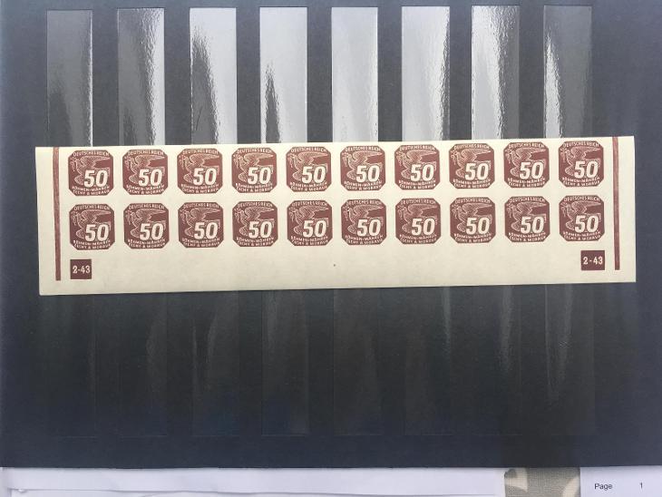 Protektorát-novinové II. NV17dolní 20-ti pás s dč2-43 nepřeruš. - Filatelie