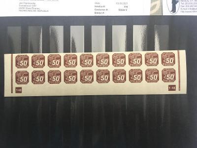 Protektorát-novinové II. NV17 dolní 20-ti pás s dč1-43 nepřeruš.