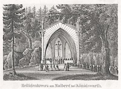 Kynžvart   kaple sv. Kříže,  litografie, (1840)