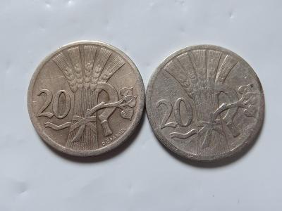 2x 20 haléř 1927+1938