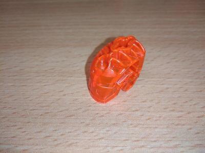 Lego díl 64262 - hlava robota červená