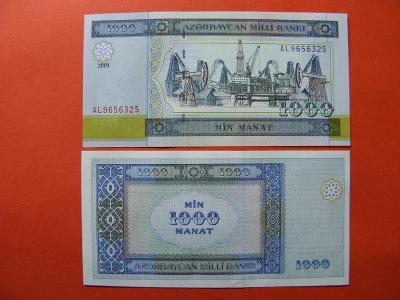 1.000 Manat  2001 Azerbaijan - P23 - UNC- /B14/