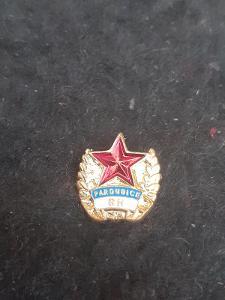 Odznak RUDÁ HVĚZDA  PARDUBICE