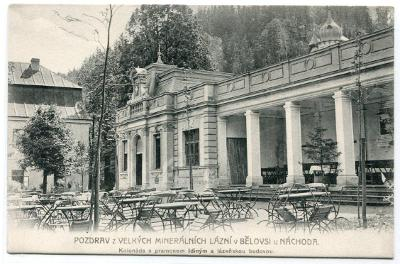 Lázně Běloves - pohlednice z cca r. 1906-1907,  Náchod