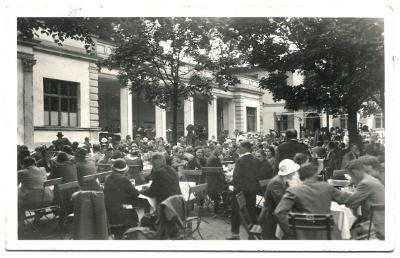 Lázně Běloves - živá!!, pohl. prošlá poštou r. 1938, Náchod