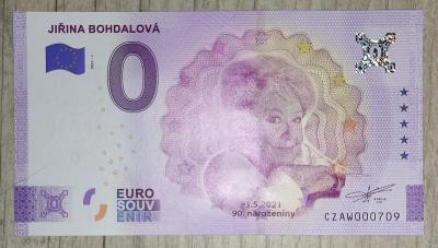Výroční 0€ bankovka - Jiřina Bohdalová