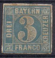 BAYERN  Mi. 2 II Platte 2**/* ! Velmi vysoký katalog !