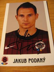 Jakub Podaný - Sparta Praha - orig. autogram
