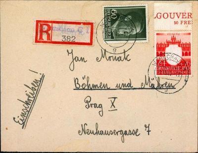 14B812 Deutschland- Warschau/ Prag- Jan Mrňák - soudní znalec známek