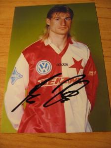 Petr Vlček - Slavia Praha - orig. autogram
