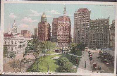 27A1805 USA New York - City Hall Park, park Row