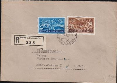 17B665 R dopis VADUZ - Moravská Ostrava