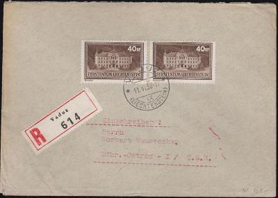17B666 R dopis VADUZ - Moravská Ostrava