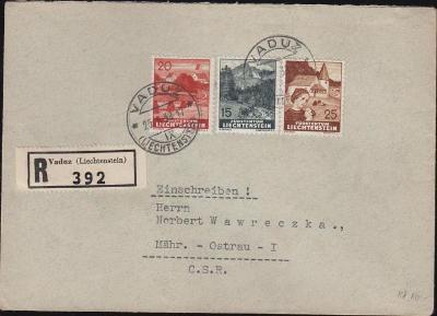 17B667 R dopis VADUZ - Moravská Ostrava