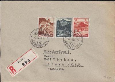17B668 R dopis VADUZ - Plzeň