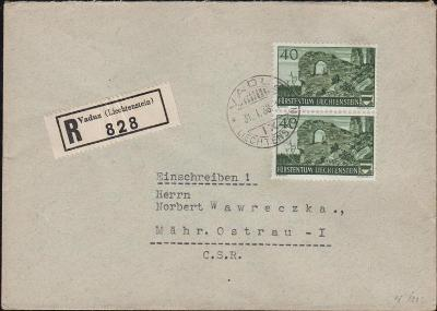 17B669  R dopis VADUZ - Moravská Ostrava