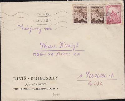 12B366 Firemní dopis Diviš, Originály Praha - Sušice