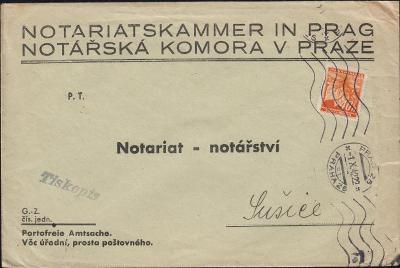 12B367 Úřední dopis Notářská komora v Praze - Sušice