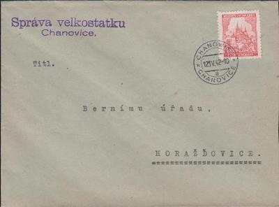 12B369 Velkostatek Chanovice - Berní úřad Horažďovice