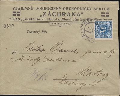 13B916 Austria/ Spol. ZÁCHRANA-Praha, Říšský poslanec V.PRUNAR/Klatovy