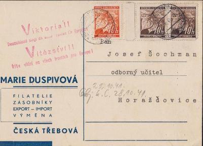 12B401 Filatelie Česká Třebová - Horažďovice, razítko VIKTORIA !!