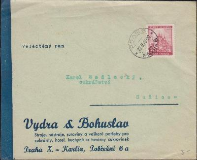12B439 Firemní obálka Vydra a Bohuslav, Praha - Sušice