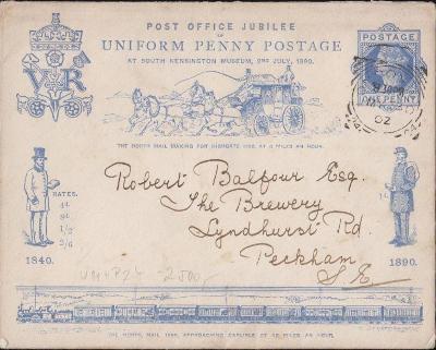 17B698 Mimořádný anglický celinový dopis Londýn, Peckham