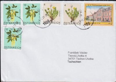 17B711 Dopis Vídeň - Tachov, dekorativní