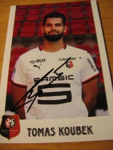 Tomáč Koubek - Stade Rennais- orig. autogram