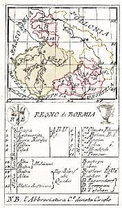 Lamberti Aniello, Regno Boemia, mědiryt, 1779