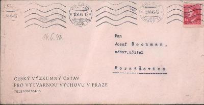 12B634 Úřední dopis Český výzkumný ústav pro výtvarnou výchovu Praha