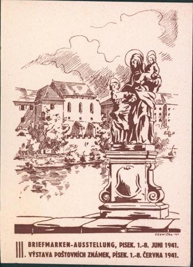 12B661 Lístek - Výstava poštovních známek Písek 1941