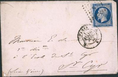 17B736 1860, Frankreich/ Francie 13, na důstojníka - vojenský regiment