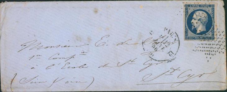 17B739 1860, Frankreich/ Francie 13, na důstojníka - vojenský regiment