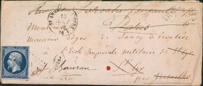 17B750 1860, Frankreich/ Francie 13, na důstojníka - vojenský regiment