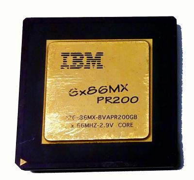 PC MUZEUM - starý procesor IBM 6x86MX PR200 - socket 7 - pro sběratele