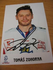 Tomáš Zohorna - ČR - orig. autogram