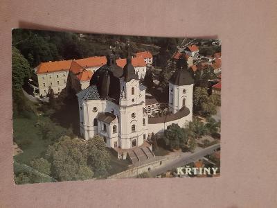 Pohlednice KŘTINY U BRNA,neprošlé poštou