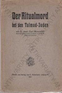 Der Ritualmord bei den Talmud-Juden Mommert 1905