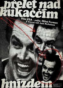Přelet nad kukaččím hnízdem Weber plakát Forman