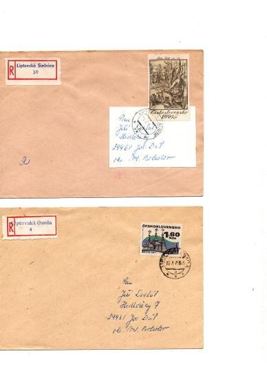 R - Liptovská Osada, L. Sielnica, známky Philip Shalle, 1,60 Kčs - Filatelie