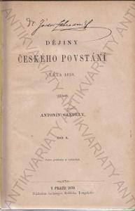 Dějiny českého povstání Léta 1618 díl I. II.