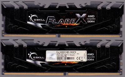 DDR4 G.Skill Flare X 16 GB, 3200 MHz, CL14