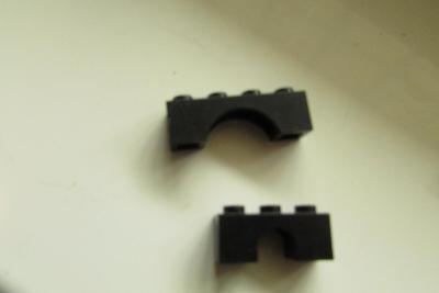 lego - 2x černý oblouk