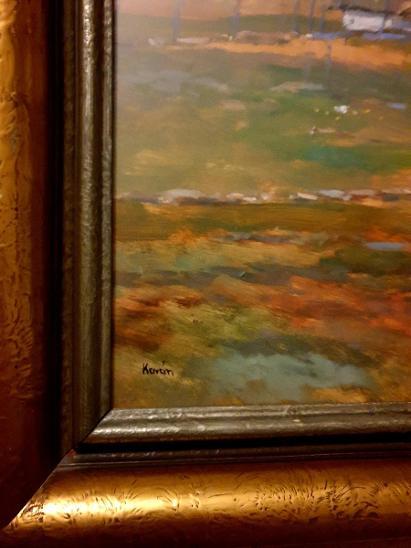 Krásny starý obraz - barevná krajina,sign.Kaván - Umění
