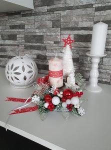 Vánoční svícen  kostka